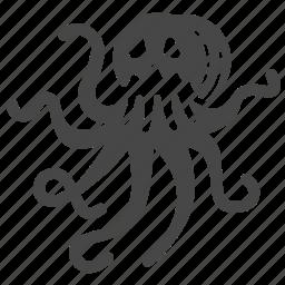 alien, kraken, legendary, monster, octopus, sea monster, squid icon