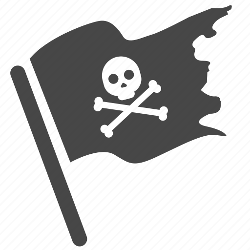 bandit, criminal, flag, ghost ship, old, outlaw, pirate icon