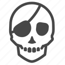 danger, dead, death, pirate, skeleton, skull icon