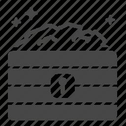 box, cache, chest, crate, fortune, treasure, wealth icon