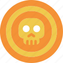 coin, pirate, skull