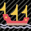 boat, pirate, sea, ship icon