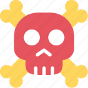 danger, pirate, skull