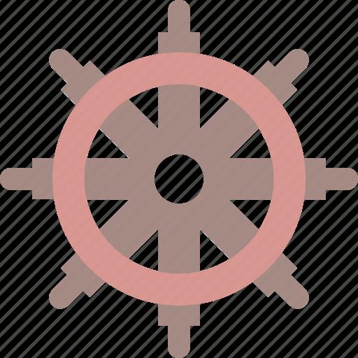 boat, ship, wheel icon