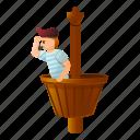 basket, halloween, man, pirate, ship, skull