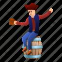 barrel, drunk, hand, person, pirate, tattoo