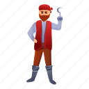 child, hand, hook, party, person, pirate