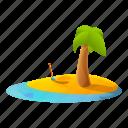 beach, empty, island, pirate, tree, water