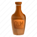 bottle, business, hand, party, rum, water