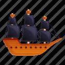 pirate, retro, ship, summer, water