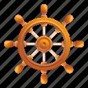 frame, retro, ship, steering, wheel