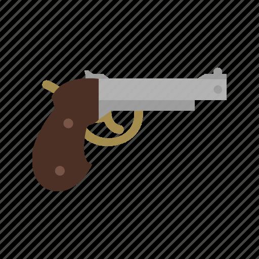 danger, gun, hand, old, pirate, pistol, shot icon