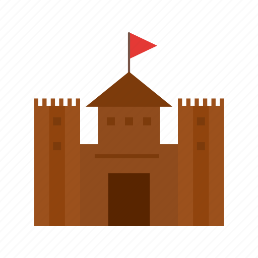 castle, circus, flag, kingdom, pirate, stone, tower icon