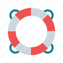 float, life, safety, sea, ship, tube, water icon