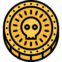 bandit, coin, gold, money, pirate, pirates, sailing icon