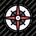 bandit, navigation, pirate, pirates, rose, sailing, wind icon