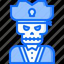 bandit, captain, pirate, pirates, sailor, skillet, skull icon