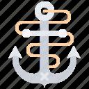 anchor, bandit, pirate, pirates, rope, sailing icon