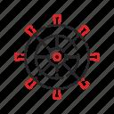 pirates, sea, ship, wheel icon