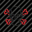 bones, crossed, pirates, ship, skull icon