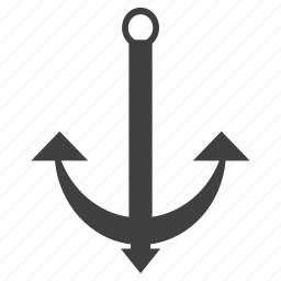 anchor, sailor, sign, stock icon