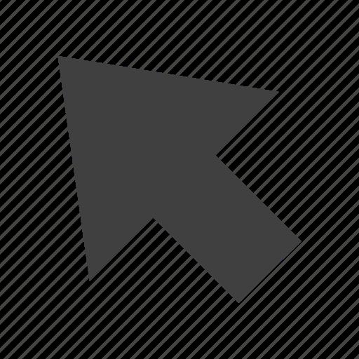 arrow, ascend, back, backward, increase, left, rise, up, upload icon