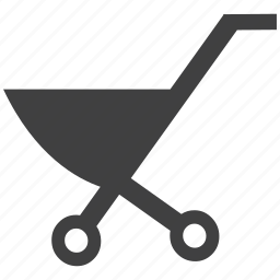 baby, cart, hand trolley, trolley, wheel barrow icon