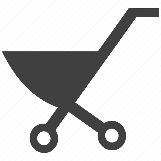 baby, cart, hand trolley, trolley, wheel barrow icon