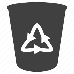bin, blank, empty, erase, garbage, recycle, trash icon