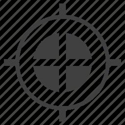 circular, round, shape, target icon