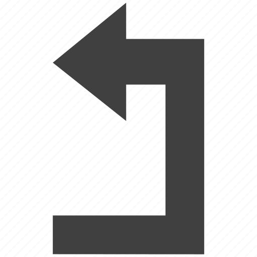 arrow, back, left, next, return, reverse, sign icon