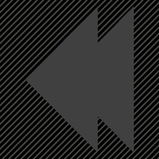 arrow, backward, reverse, rewind, sign icon