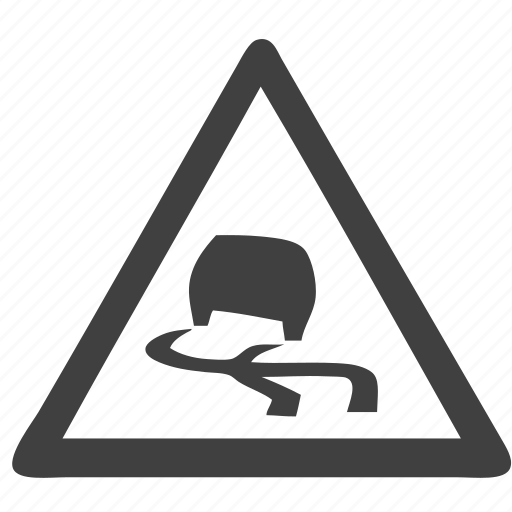 road, sign, slippery road icon
