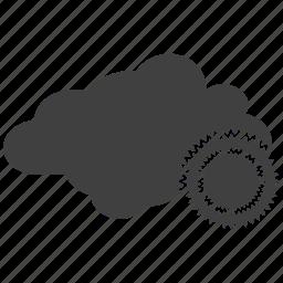 cloud, sun, sunny cloud icon