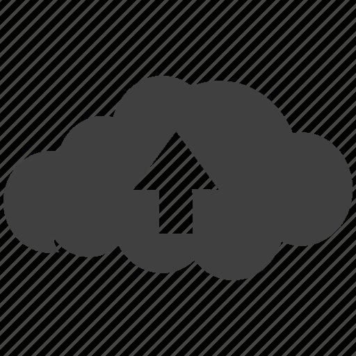 arrow, cloud, cloud computing, control, host icon