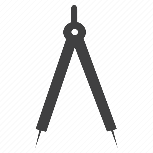 architect, compass, divider, geometric icon