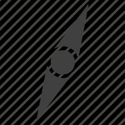 compass, needle pointer icon