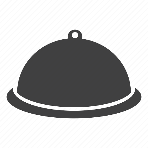 cloche lid, cooktop lid, dinner, fresh, ready, served icon