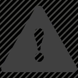 alert, caution, error, exclamation, mark, risk, warning icon