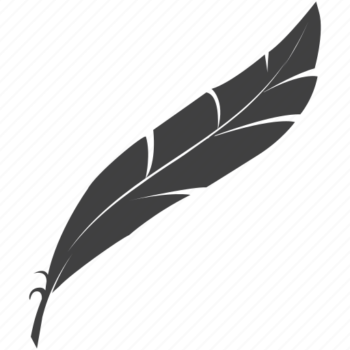 calligraphy, feather, quinn feather icon