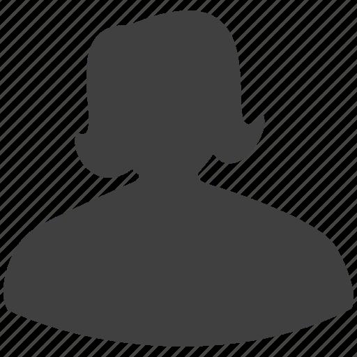 account, female, girl, member, profile, woman icon