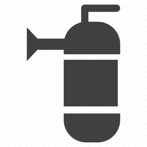 danger, extinguisher, fire, squeeze icon