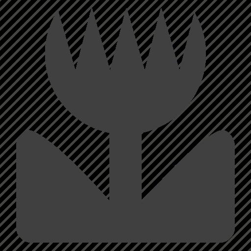 floral, flower, leaf, logo, plant, spring, tulip icon