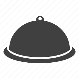 cloche lid, cooking, equipment, food, serving, tinware, tray, utensils icon