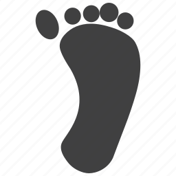feet, fingers, foot, footprint, print, stamp, walk icon