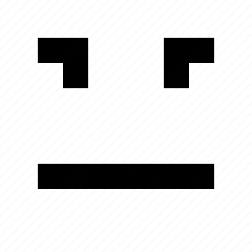 face, frown, game, indiferent, pixel art, pixelated icon