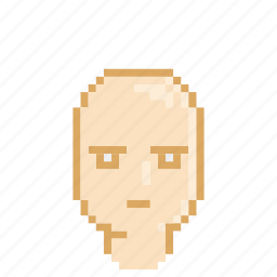 bald, male, plain, profile, serious icon