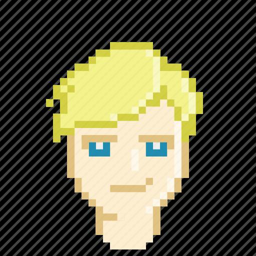 blonde, handsome, male, model, pretty, profile icon
