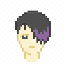 emo, guy, male, profile, purple, sad icon