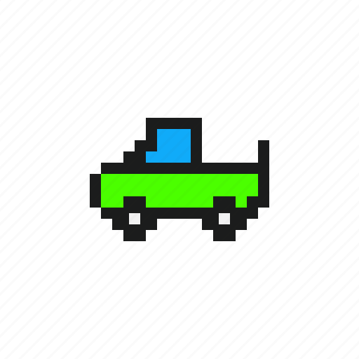 car, cars, pickup, pixel car, pixels car, vehicles icon